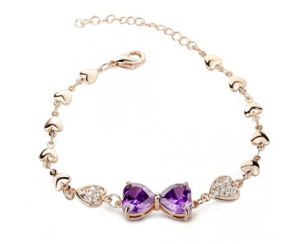 Amethyst-Bowknot- bracelets-for-women