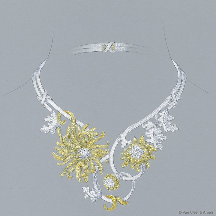 Chrysanthème-necklace-for-woman