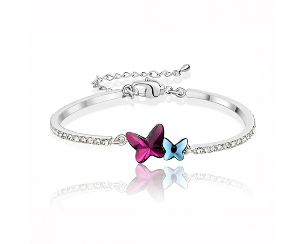 Double-Crystal Butterflies--brcelets-for-women