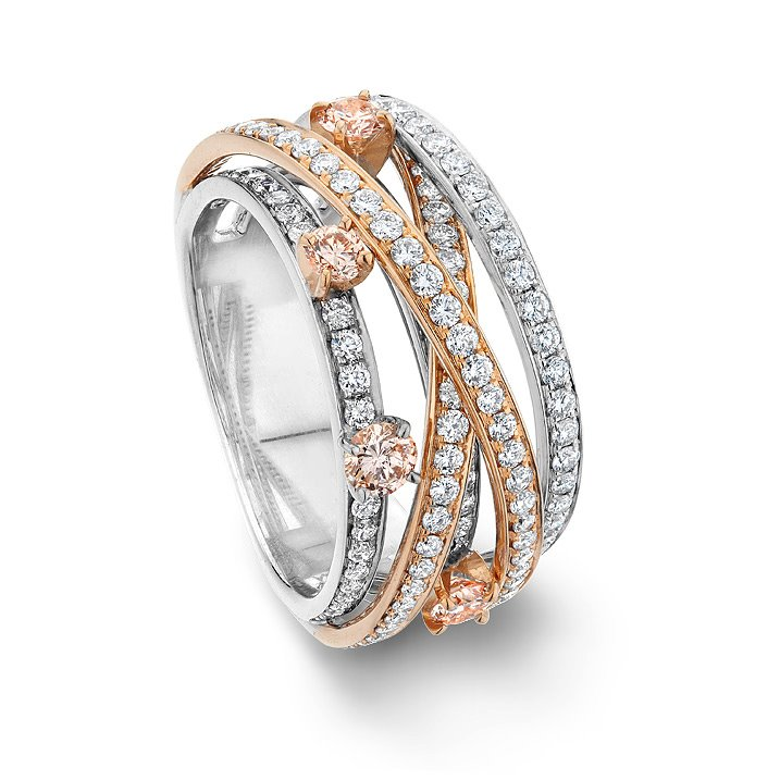 Floating-Pink Diamond-Ring