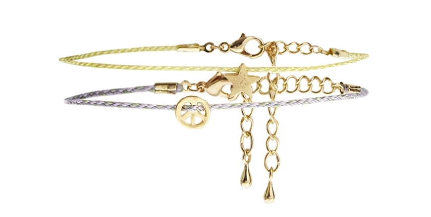 Mini-star-and peace-symbol-bracelets-for-women