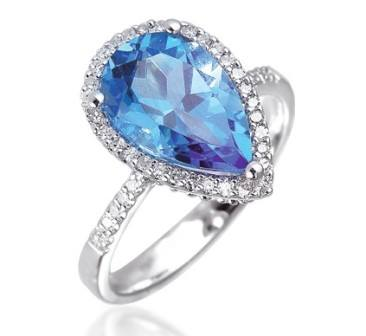 Pear-diamond-ring