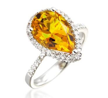 Pear-diamond-rings