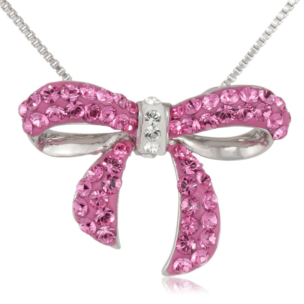 Pink-Bow-necklace-for-woman