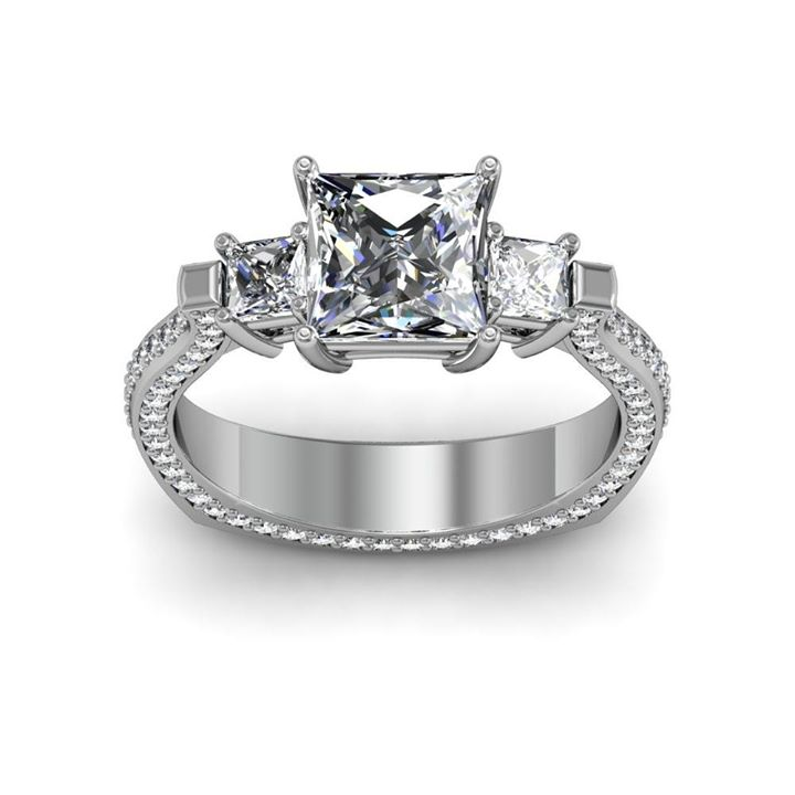 Princess-Cut Diamonds-ring