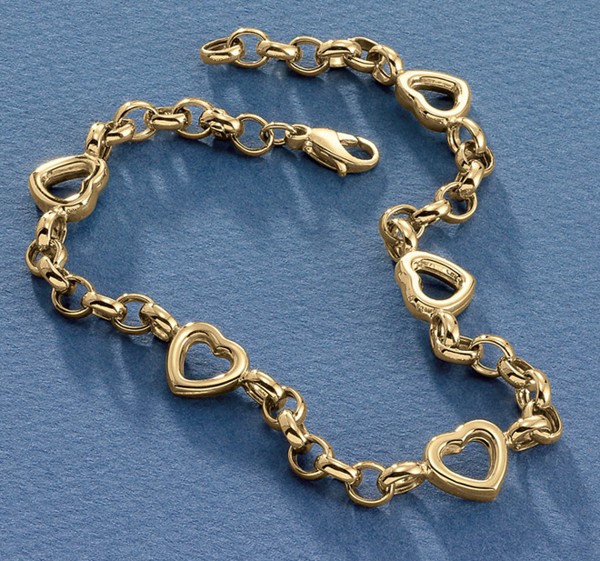 Rolo-Link-Heart-anklets-for-woman