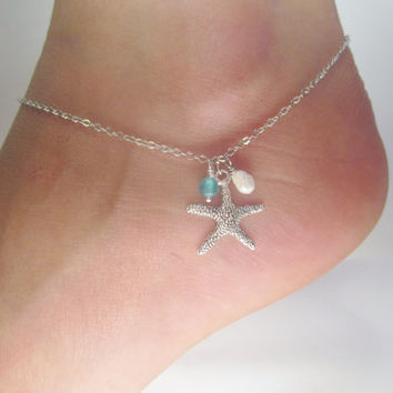 Starfish-anklets-for-woman