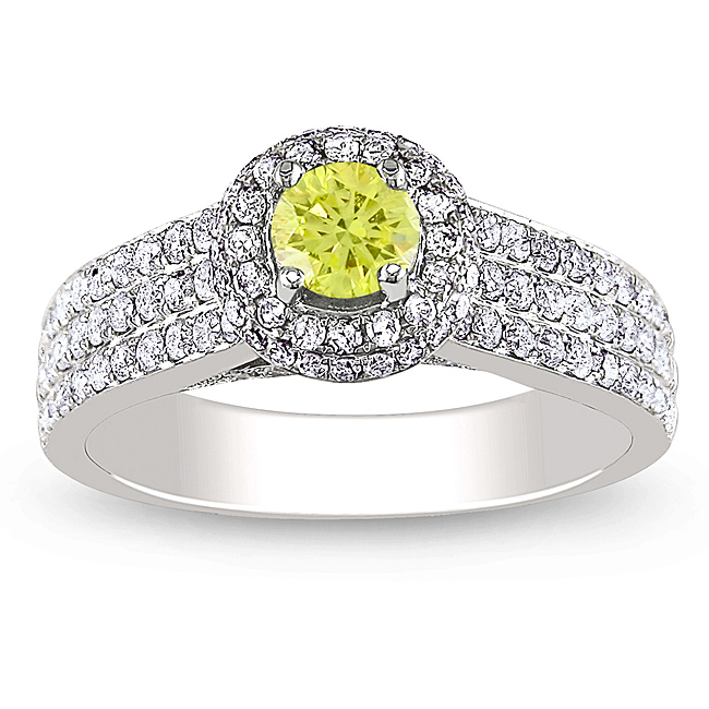 Yellow-and-White-Diamond-Ring