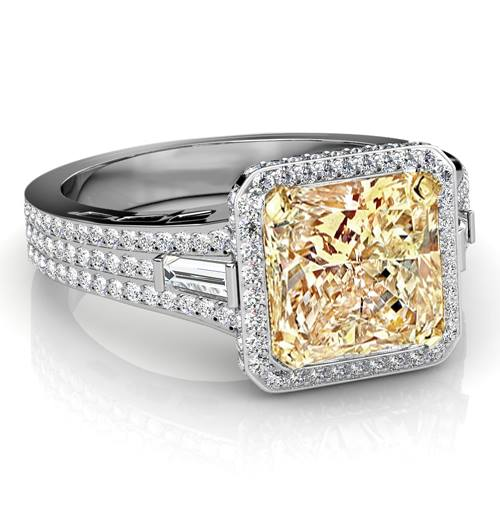 Princess-cut- diamond-rings