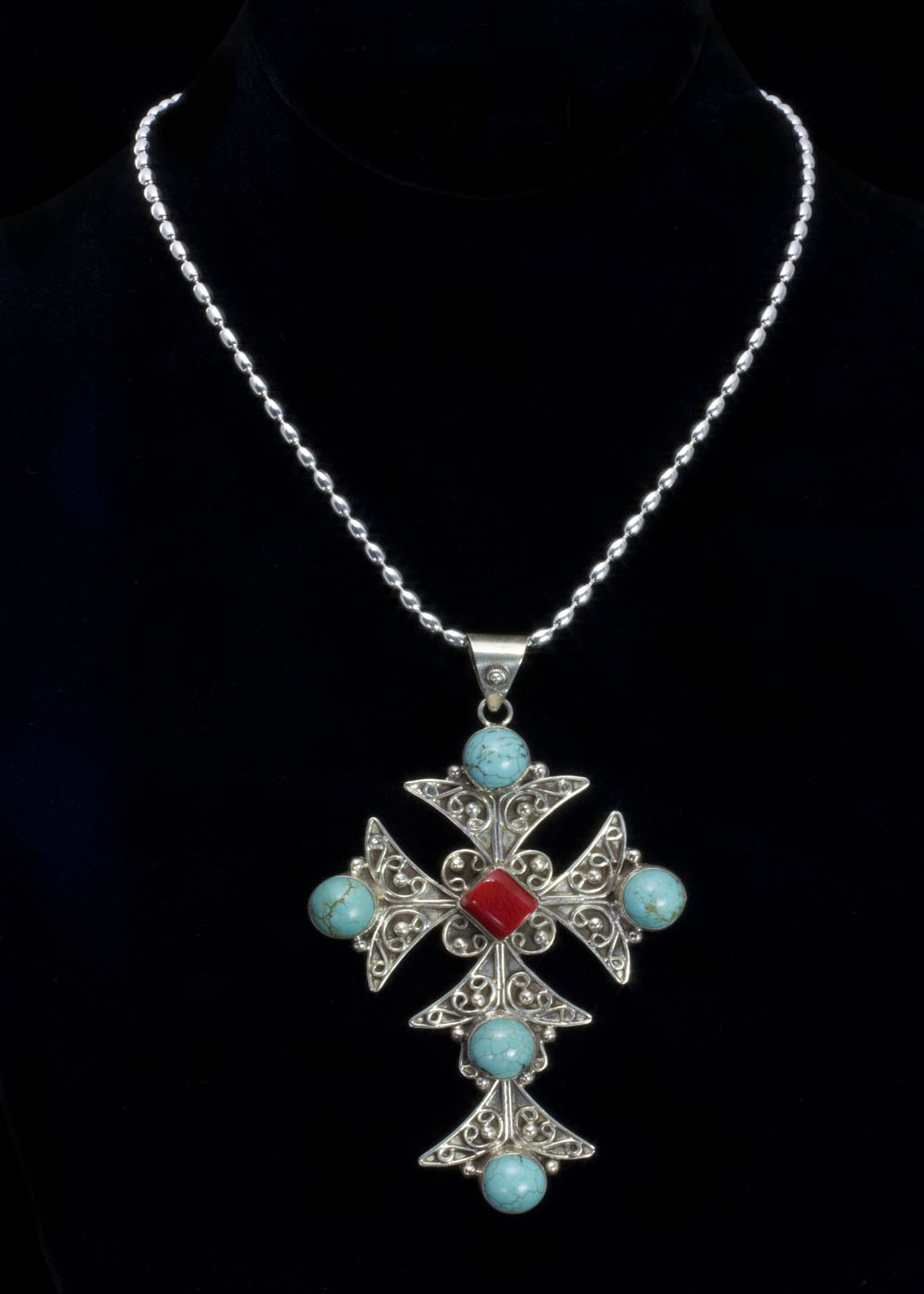 coral-cross-necklace-for-woman