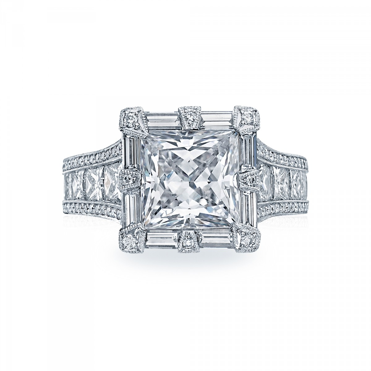 stunning-Princess-cut- diamond-ring