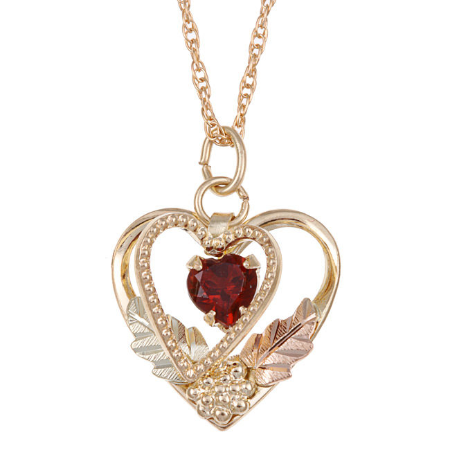 Garnet-heart-necklace