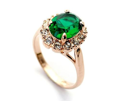 Gold-Plated-emerald-rings