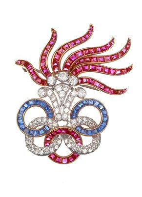 Olympic-Flame-diamond-brooches
