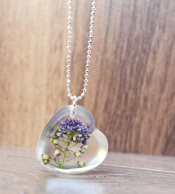 Real-Flower-heart-necklace