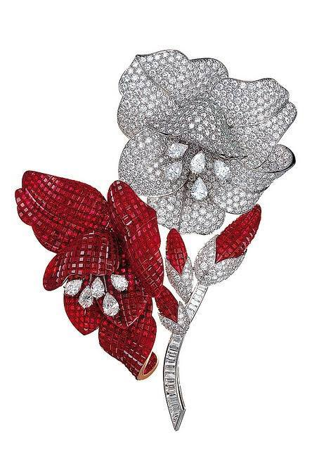 Red-and-white-brooch