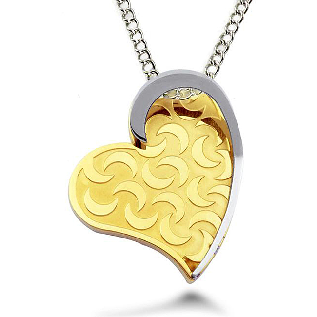 Two-tone-heart-necklace
