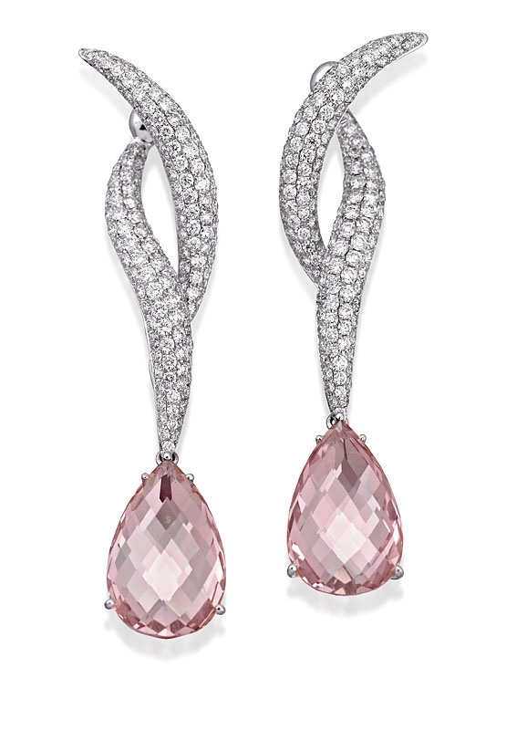 White-and-Pink-diamond-earrings-for-women