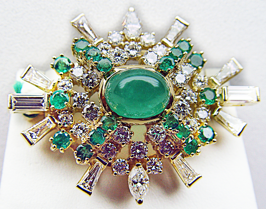 emerld-diamond-brooches