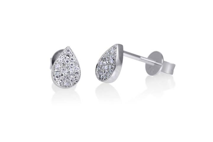 pear ct prong v stud end earrings gold shaped certified diamond white shape pid