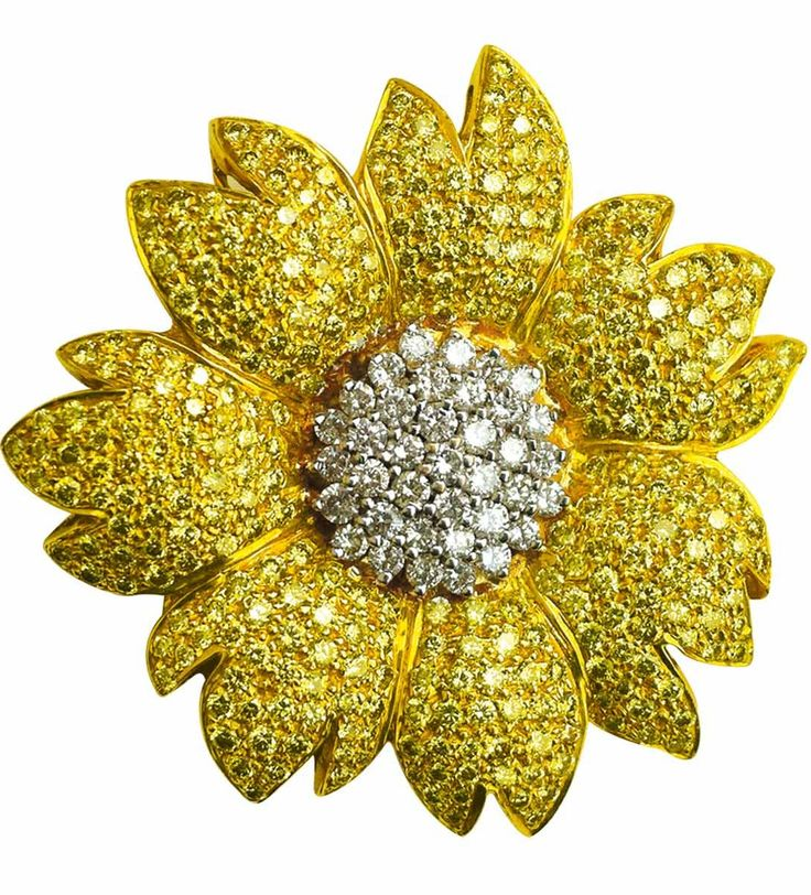 sunflower-brooches